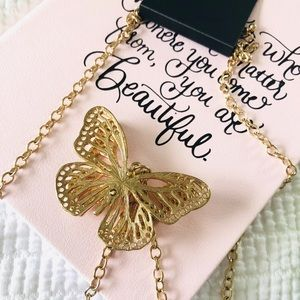NWT butterfly necklace